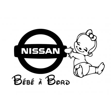 Sticker bébé à bord BMW Fille
