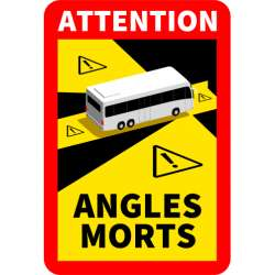 Sticker angle mort camion