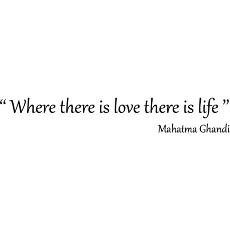 Citation love by Gandhi