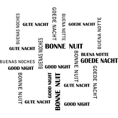 Bonne nuit multilingue