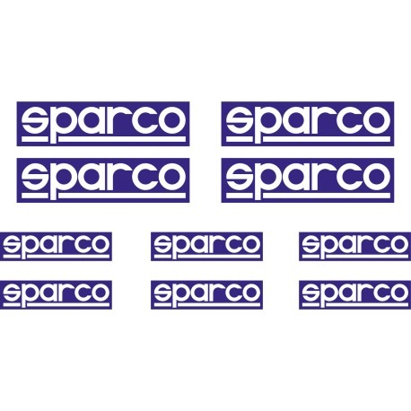 Kit 10 stickers SPARCO