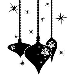 Boules de Noël & Flocons de neige
