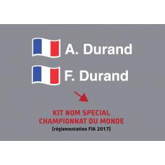 KIT NOMS SPECIAL CHAMPIONNAT DU MONDE