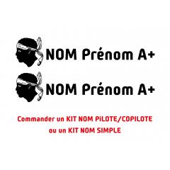 Kit noms rallye 15