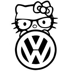 Hello Kitty volkswagen 1