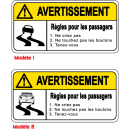Sticker Avertissement Passager