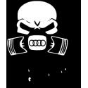 Sticker Si ça fume c'est que ça marche Audi