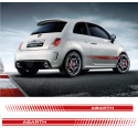 KIT STICKERS BANDES FIAT 500 ABARTH