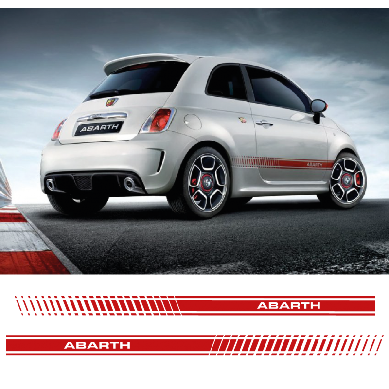 kit stickers bandes fiat 500 abarth. Black Bedroom Furniture Sets. Home Design Ideas